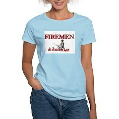 Firemen Do It With a Hose Women's Pink T-Shirt