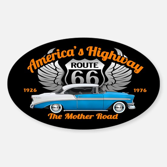 America's Highway 66 Sticker (Oval)