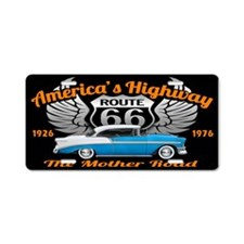 America's Highway 66 Aluminum License Plate