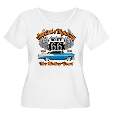 America's Highway 66 Women's Plus Size Scoop Neck