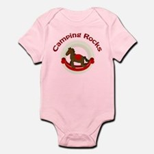 Camping Rocks Rocking Horse Red Body Suit