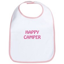 Happy Camper Baby Girl Bib