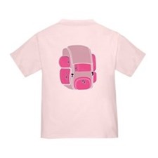 Happy Camper Backpack Baby Girl T-Shirt