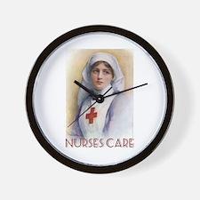 Nurses Care Wall Clock