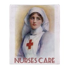 Nurses Care Throw Blanket