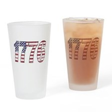 1776 Flag Drinking Glass