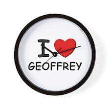 I love Geoffrey Wall Clock