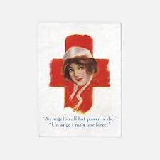 French Nurse Angel 5'x7'Area Rug