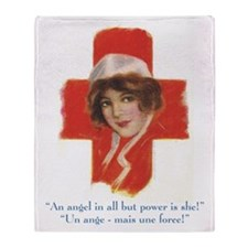 French Nurse Angel Throw Blanket