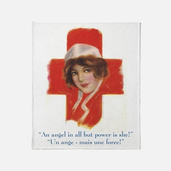 French Nurse Angel Throw Blanket