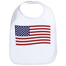 Waving American Flag Bib