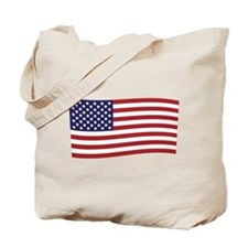 Waving American Flag Tote Bag