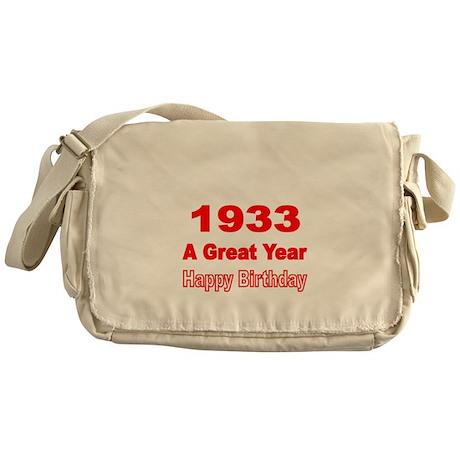 1933 A Great Year Messenger Bag