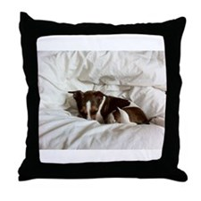 Sleepy Jack Russel Brindle Throw Pillow