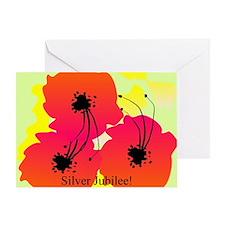 Silver Jubilee blanket 1 Greeting Card