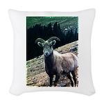Mountain Sheep Woven Throw Pillow