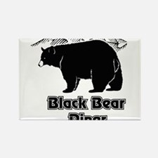 Black Bear Logo Rectangle Magnet
