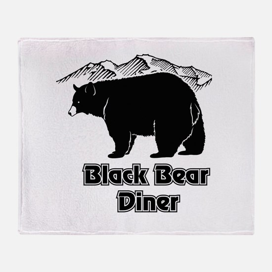 Black Bear Logo Throw Blanket