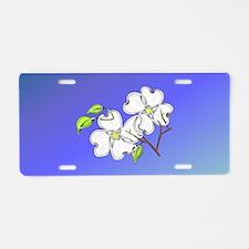 White Dogwood Aluminum License Plate