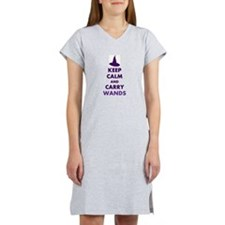 Carry Wands (purple) Women's Nightshirt