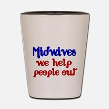 Midwives Shot Glass