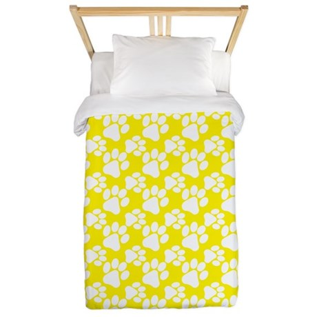 Dog Paws Yellow-Small Twin Duvet