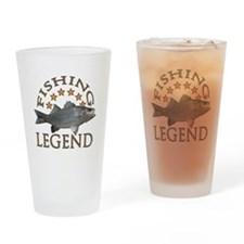 Fishing legend Striped Bass Drinking Glass