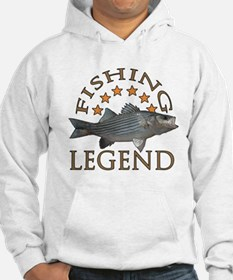 Fishing legend Striped Bass Hoodie