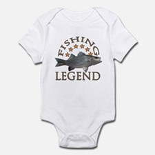 Fishing legend Striped Bass Infant Bodysuit