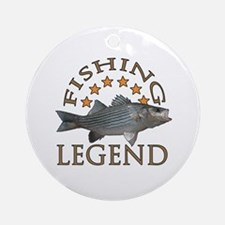 Fishing legend Striped Bass Ornament (Round)