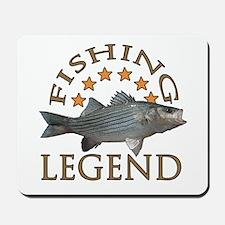 Fishing legend Striped Bass Mousepad