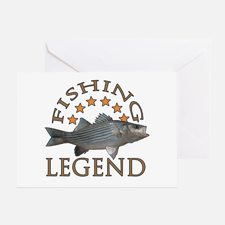 Fishing legend Striped Bass Greeting Card
