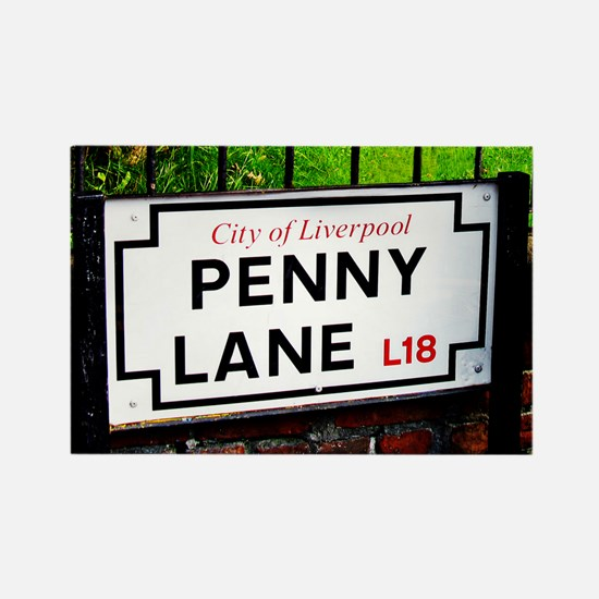 penny lane, liverpool sign Rectangle Magnet