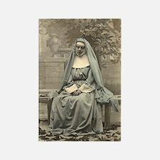 Sad Nun Rectangle Magnet