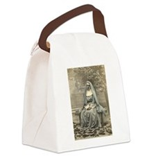 Sad Nun Canvas Lunch Bag