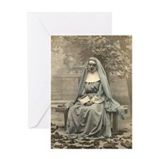 Sad Nun Greeting Card