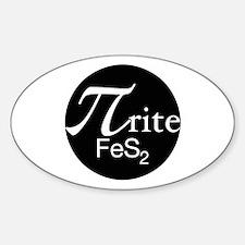 Pyrite Sticker (Oval)