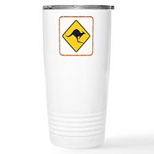 Kangaroo Crossing Designer Travel Mug