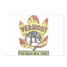 Vintage Vermont Maple Leaf Postcards (Package of 8