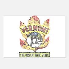 Vintage Vermont Maple Leaf Postcards (Package of 8