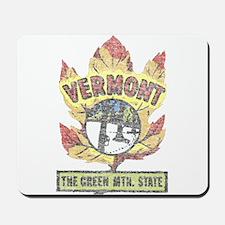 Vintage Vermont Maple Leaf Mousepad