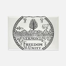 Vermont Vintage State Seal Rectangle Magnet