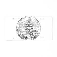 Vintage Vermont State Flag Aluminum License Plate