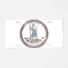 Virginia Vintage State Flag Aluminum License Plate