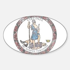 Virginia Vintage State Flag Decal