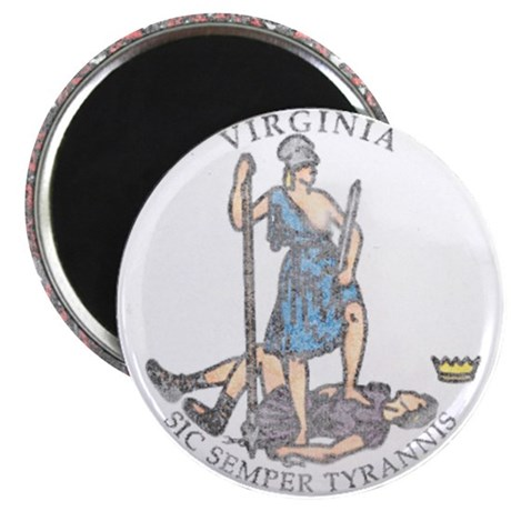 Virginia Vintage State Flag Magnet
