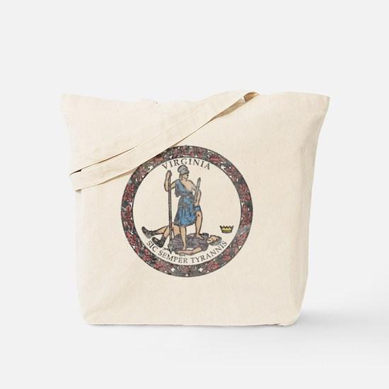 Virginia Vintage State Flag Tote Bag