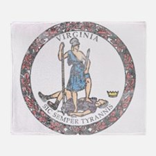Virginia Vintage State Flag Throw Blanket