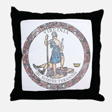 Virginia Vintage State Flag Throw Pillow