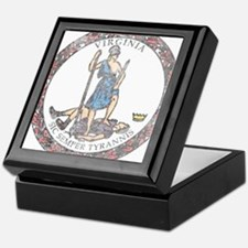Virginia Vintage State Flag Keepsake Box